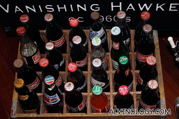 Old soft drink glass bottles