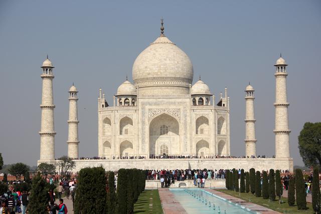 The stunning Taj Mahal in Agra, India!