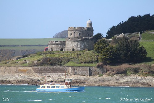 Roseland Walk - 18th April 2013 - St.Mawes Castle and Ferry by Stocker Images