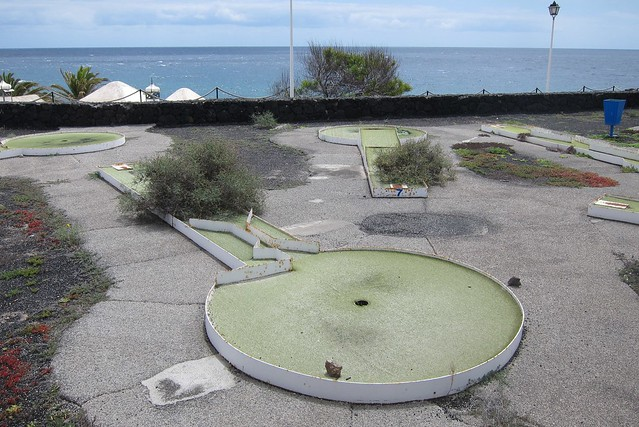 Abandoned crazy golf course
