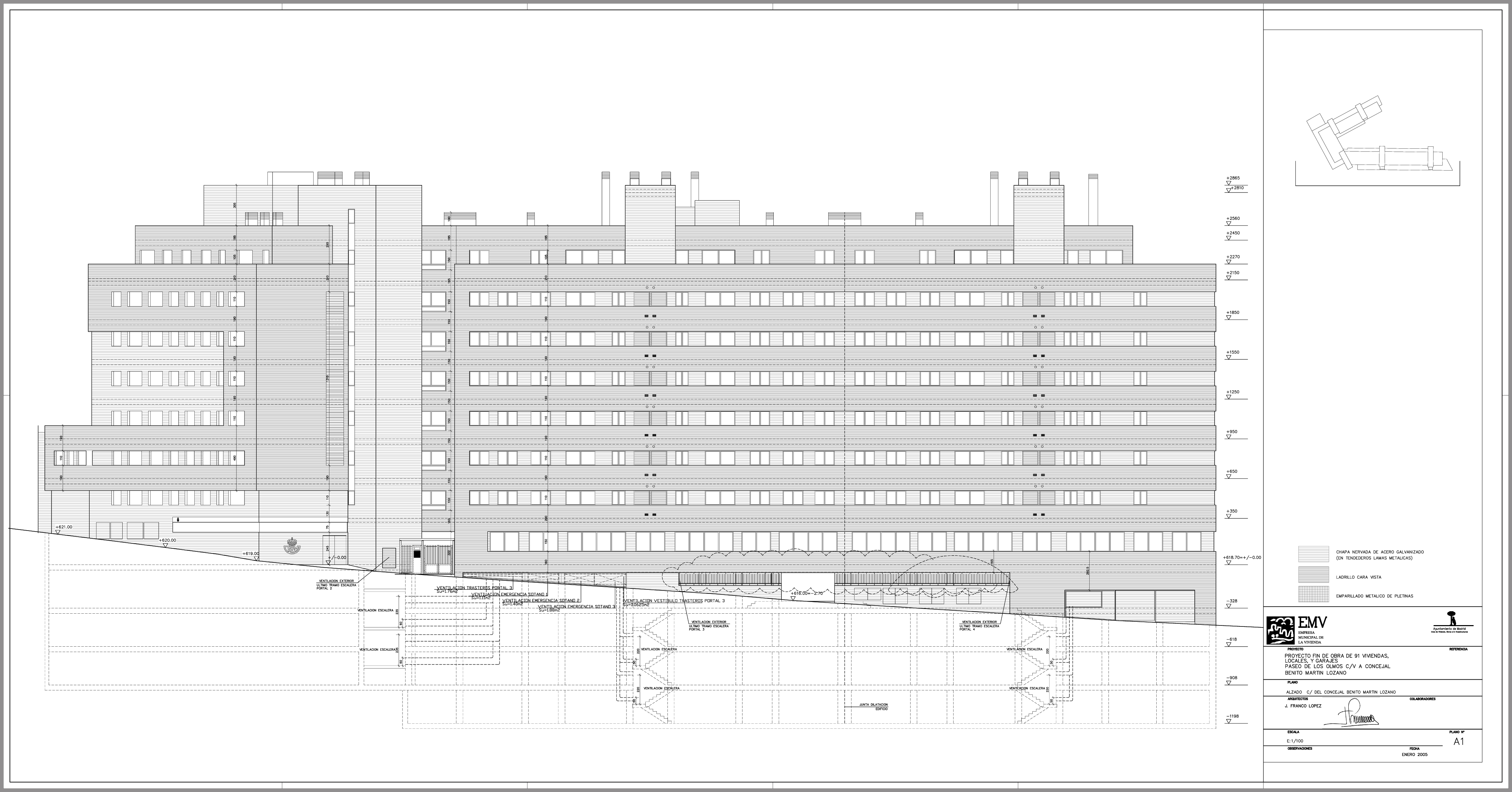Arquitecturaenimagen proyectos julian franco l pez arquitecto architect edificio de 91 - Listado arquitectos madrid ...