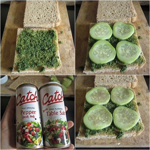 Mint Chutney Sandwich with Cucumber & Cheese