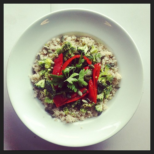 grilled Red peppers, broccoli, couscous by Salad Pride