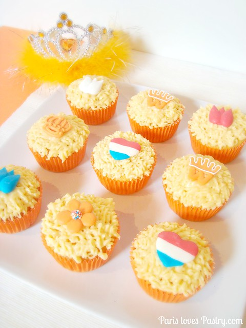 Orange Queen's Day Cupcakes