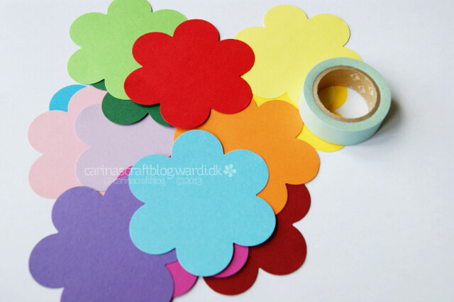 Paper flower decoration