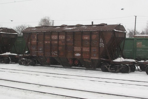 Ukrainian Railways grain wagons