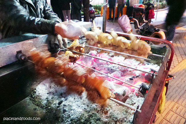 nanning street food grilled chicken