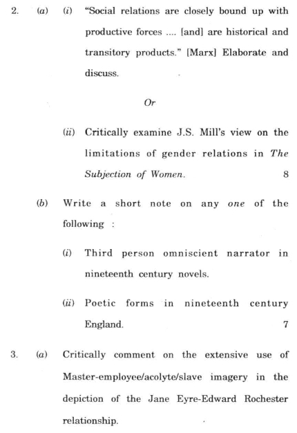 DU SOL B.A. (Hons.) ENG Question Paper -  English Literature 4 - Paper I