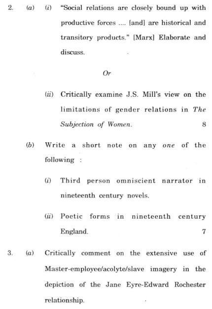 DU SOL B.A. (Hons.) ENG Question Paper - English Literature4 - Paper I
