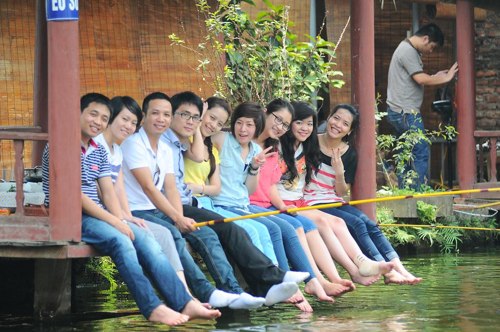 Câu cá ở Ngọc Thụy, Long Biên.