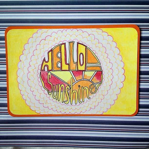 #swapbot #sunshine #postcard #doodle #snailmail #exchange #bright #sun