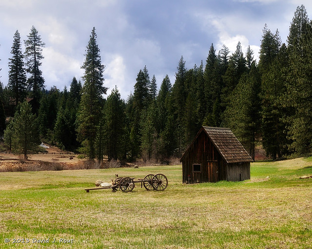 Cart & Shack in Mountain Meadow