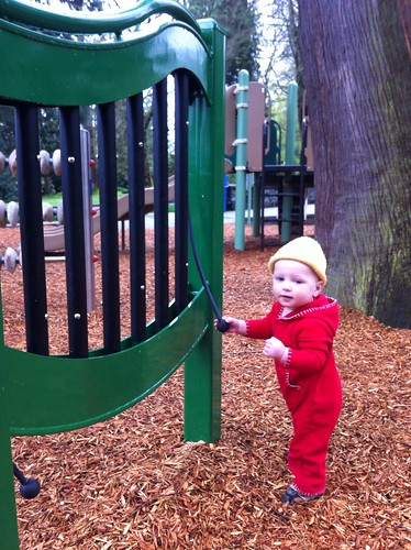 Checking out the New Playground at Volunteer Park