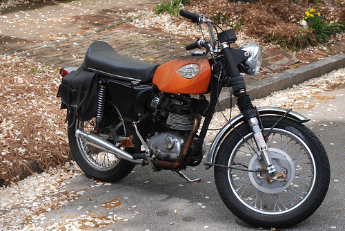 Vintage BSA motorcycle, Savannah GA
