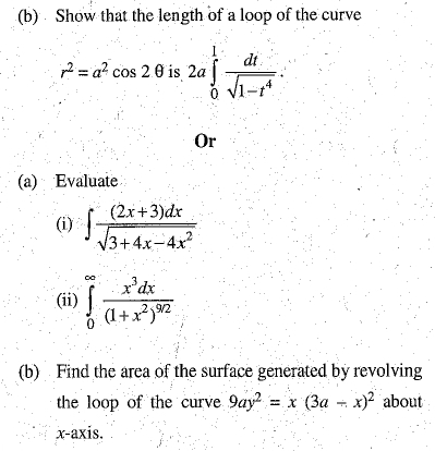 DU SOL B.A. Programme Question Paper -  Mathematics -  Paper III/IV
