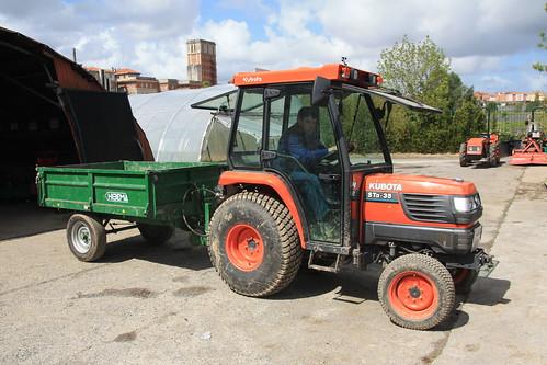 Kubota traktorea