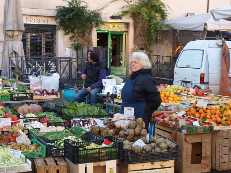 Campo de Fiori - vegetable stand