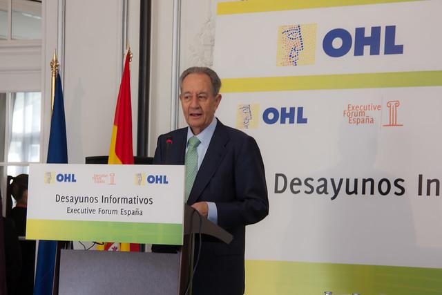 Breves palabras de Don Juan Miguel Villar Mir al inicio del evento.