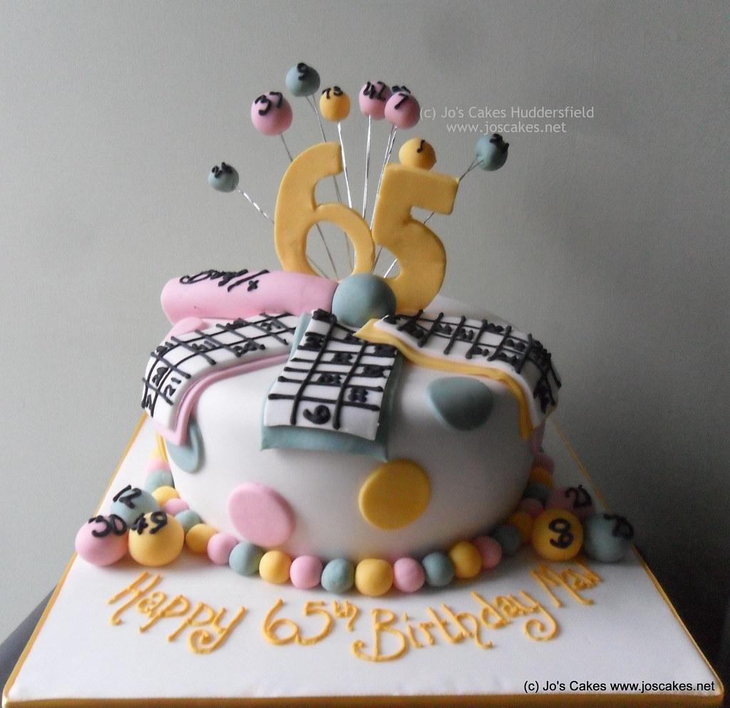 Bingo Themed 65th Birthday Cake