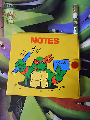 NOTEWORTHY :: TEENAGE MUTANT NINJA TURTLES 'MINIATURES'; NOTE PAD i (( 1990 ))