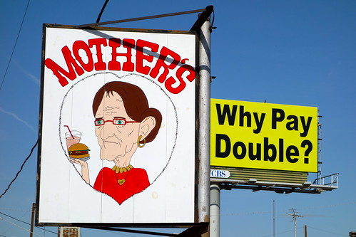 "Sign for a restaurant named ""Mothers."""