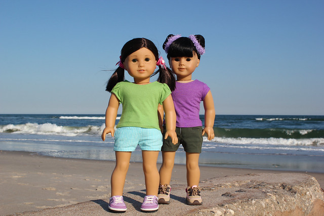 Inky & Zoya at the Beach