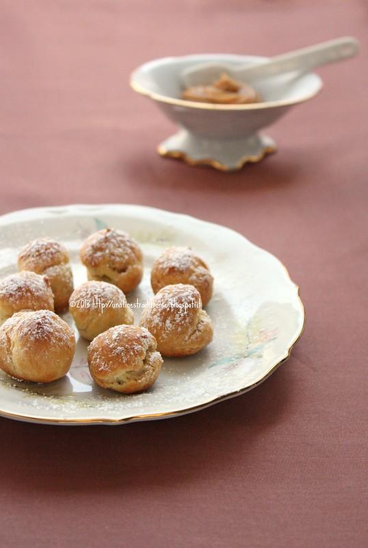 Petits choux con crema mousseline al pralinato