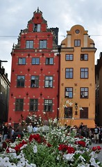 Schantzka Huset et Seyfridstka Huset, Stortorget, Gamla stan, Stockholm, Suède.