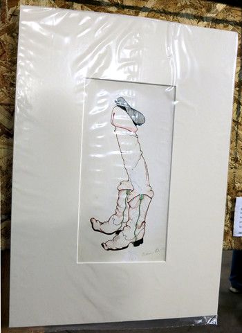 AAN2013 Dick in Boots by Gillian Lerner Pen & Colored Pencil