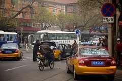 taxi, automobile, traffic, vehicle, transport, mode of transport, public transport, lane, land vehicle, luxury vehicle, traffic congestion, street, bus, pedestrian,