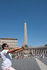 Sam propping up the Obilisk at the Vatican