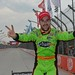 James Hinchcliffe celebrates victory in Sao Paulo