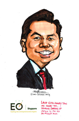 Mr Henry Tan caricature for EO Singapore