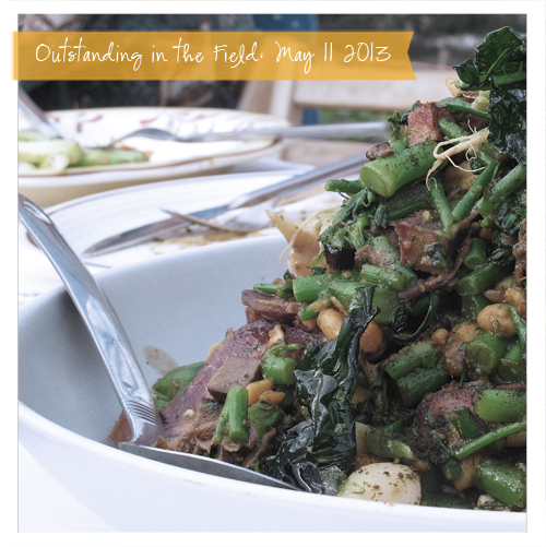 Tenderstem Broccoli, Hakurei Turnip, Beef Tongue and Tail, Fava Bean Miso, Collard Kimchee, Smoked Sardine Gauram, Etna Pepper