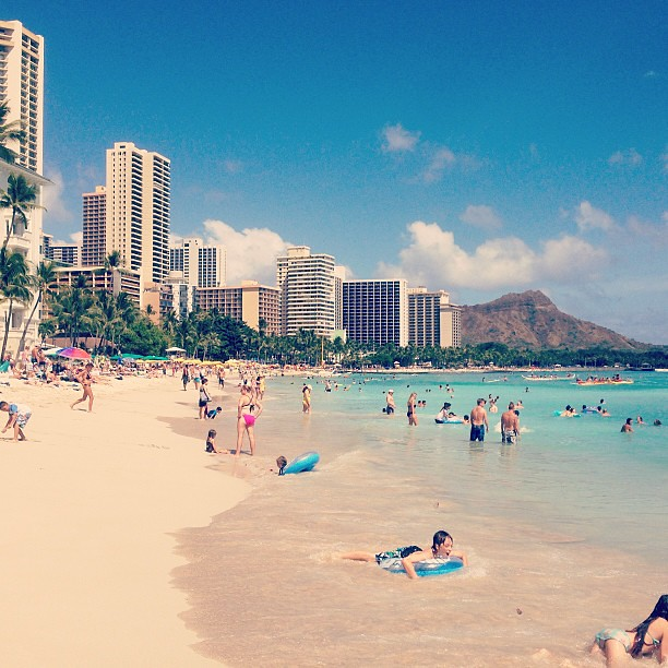 Hawaii - Day One - Waikiki Beach