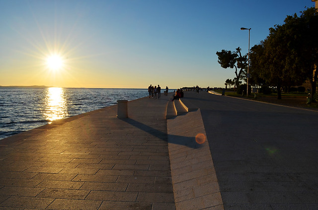 Dusk in Zadar, Croatia