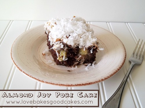 Almond Joy Poke Cake