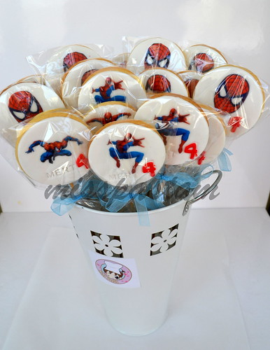 spider man cookies by MİSSPASTAM
