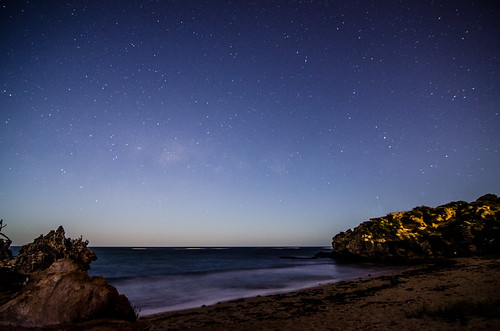 ocean longexposure nightphotography beach night stars nikon space tokina galaxy astrophotography perth dslr westernaustralia milkyway rockingham pointperon 1116mm d5100 landscapeastrophotography