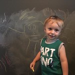 Archer drew a friend on his chalk wall by bartlewife