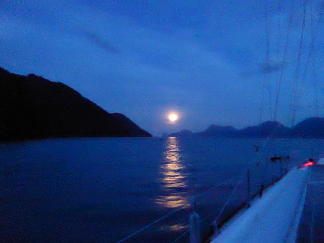 Moon set departure