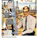 Sat, 2016-09-24 22:52 - Stripe it Rich, 1955 Van Heusen ad