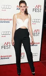 Kristen Stewart Monochrome Trend Celebrity Style Women's Fashion