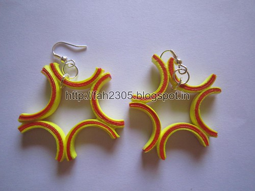 Handmade Jewelry - Paper Quilling Earrings (Free Form Quilling) (4) by fah2305