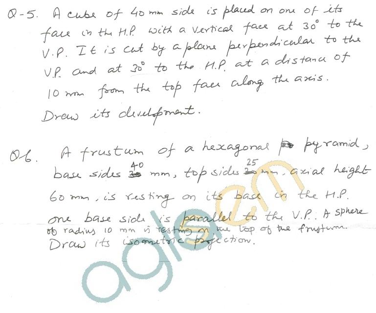 DTU Question Papers 2010 – 1 Semester - End Sem - ME-117