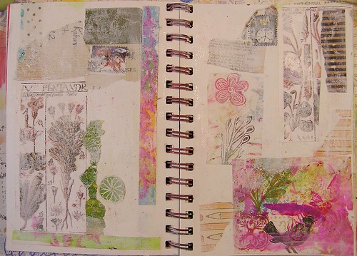 Collage Art Journal Page, Part 2