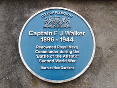 Photo of F. J. Walker blue plaque