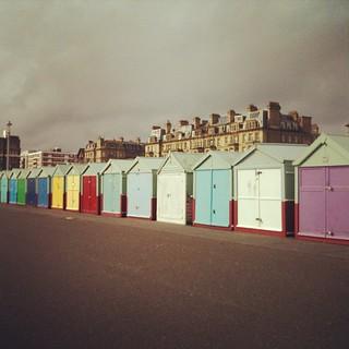 Gotta love the wee beach huts.