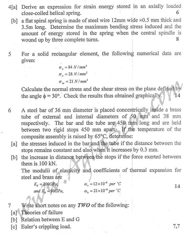 DTU Question Papers 2010 – 4 Semester - End Sem - PE-212