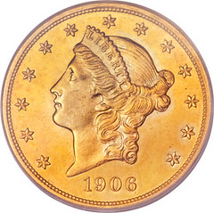 1906-D double eagle special strike obverse